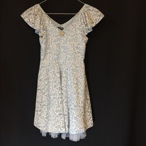 Lily Rose blue and white lace dress. Size 10
